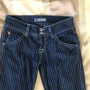 Pinstriped jeans